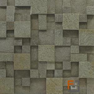 Pedra QTZ Mosaico Plantanum Verde 3 (30x30cm) Falcon Mosaics