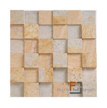 Pedra Quartzito Amarela Plantanum 30x30cm Tupy Pedras