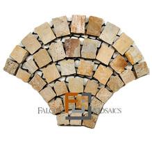 Pedra Quartzito Arco Brasil Amarelado 64x48cm Tupy Pedras