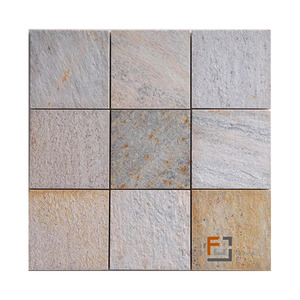 Pedra quartzito mosaico enquadrato amarela 9 8 29 8x29 for Leroy merlin mosaico decorativo