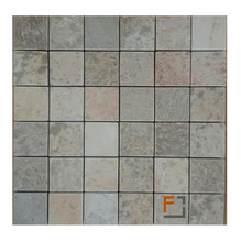 Pedra Quartzito Mosaico Enquadratto Verde 29,8x29,8cm Tupy Pedras