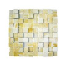 Pedra São Tomé Mosaico Amarelo 3x3 (30x30cm) Henry Mosaicos