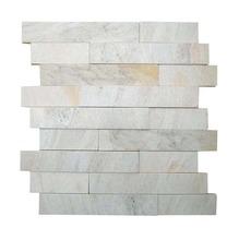Pedra São Tomé Mosaico Branco 3x20 (30x30cm) Henry Mosaicos