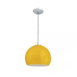 Pendente 1 Lâmpada Amarelo 3115 Pantoja&Carmona