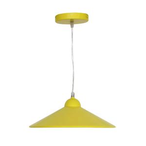Pendente 1 Lâmpada Amarelo Braga Inspire