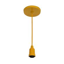 Pendente 1 Lâmpada Amarelo Color Inspire