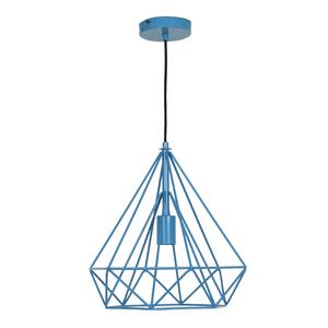 Pendente 1 Lâmpada Azul Byron Inspire