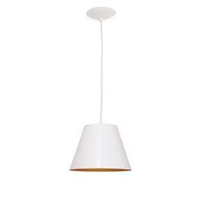 Pendente 1 Lâmpada Branco 601/1 Auremar