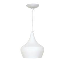 Pendente 1 Lâmpada Branco Bell Luz Vita
