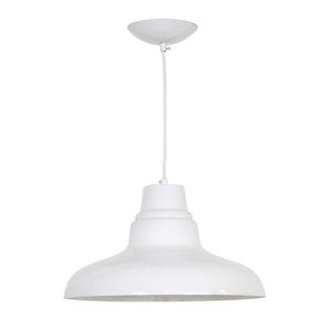 Pendente 1 Lâmpada Branco Vintage Inspire