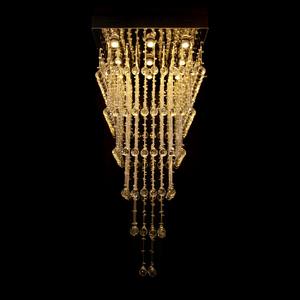 Pendente 1 Lâmpada Cristal Quadrado Diamante