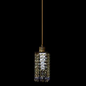 Pendente 1 Lâmpada Dourado 1050/1 Diamante