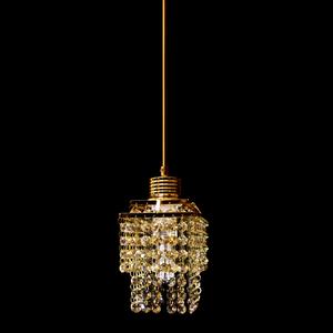 Pendente 1 Lâmpada Dourado 1070/1 Diamante