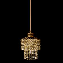 Pendente 1 Lâmpada Dourado 1080/1 Diamante