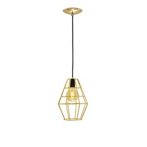 Pendente 1 Lâmpada Dourado Balão Auremar