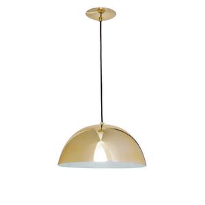 Pendente 1 Lâmpada Dourado Bilbão Auremar