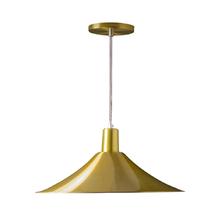 Pendente 1 Lâmpada Dourado Maozi Luz Vita