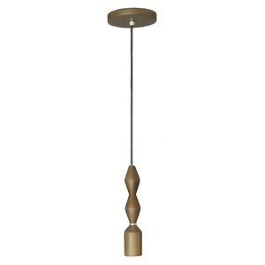 Pendente 1 Lâmpada Imbuia Claro 3086 BM Lamps