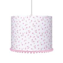 Pendente 1 Lâmpada Rosa Flores Carambola