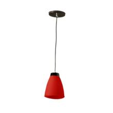 Pendente 1 Lâmpada Vermelho Basic Luz Vita