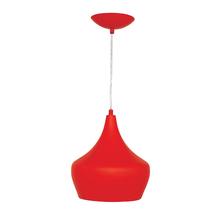 Pendente 1 Lâmpada Vermelho Bell Luz Vita