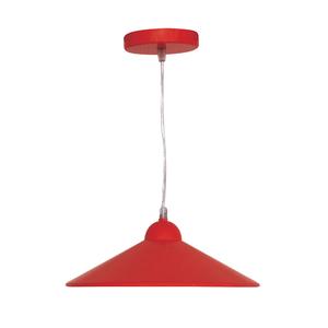 Pendente 1 Lâmpada Vermelho Braga Inspire