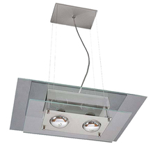 Pendente 2 Lâmpadas Transparente 140 Pantoja&Carmona