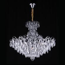 Pendente 6 Lâmpadas Transparente Milão Chandelie