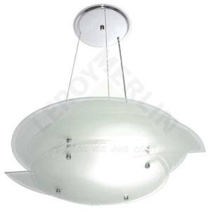 Pendente Aço/vidro 60x42cm Cinza Attena