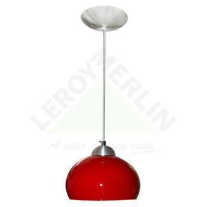 Pendente Alumínio/vidro 10,5x2,8cm Vermelho Caisma Iluminação