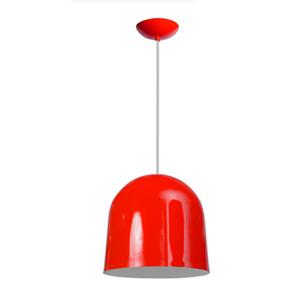 Pendente Caisma Brasil P Redondo Alumínio Vermelho Bivolt