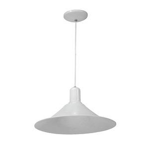 Pendente Chapéu Chinês E27 1 Lâmp. Branco 18W 40x90cm Vip Iluminação