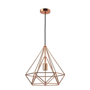 pendente cobre metal byron inspire leroy merlin. Black Bedroom Furniture Sets. Home Design Ideas