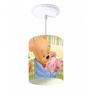 Pendente Infantil Startec Pooh Baby Redondo Polipropileno Colorido 1 Lamp Bivolt