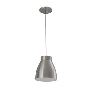 Pendente Lampa Lustre Copo Redondo Alumínio Prata Bivolt