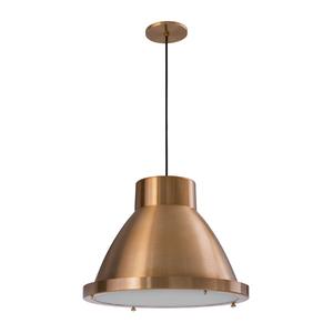 Pendente Lampa Lustre Escotilha Redondo Alumínio Cobre Bivolt