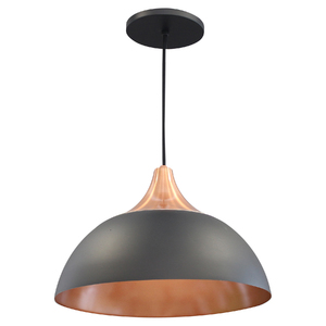 Pendente Lampa Lustre Escotilha Redondo Alumínio Preto Bivolt