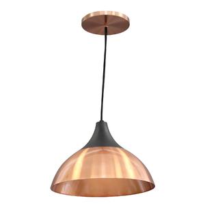 Pendente Lampa Lustre Trio Redondo Alumínio Preto Bivolt