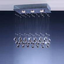 Pendente LLUM Bronzearte Crystal Médio Plástico Prata Bivolt