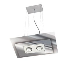Pendente Pantoja&Carmona 140 Retangular Metal e Vidro Espelhado Bivolt