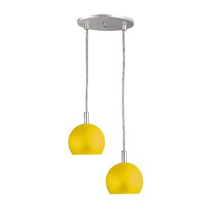 Pendente Pantoja&Carmona 3086 Redondo Metal Amarelo Bivolt