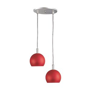 Pendente Pantoja&Carmona 3086 Redondo Metal Vermelho Bivolt