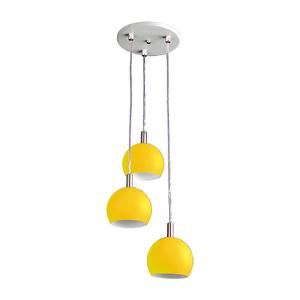 Pendente Pantoja&Carmona 3087 Redondo Metal Amarelo Bivolt