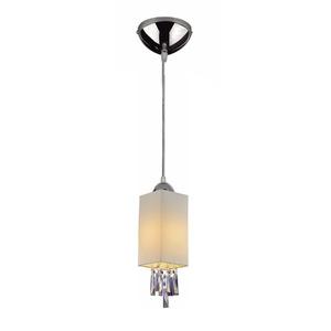Pendente LLUM BestSide Quadrado Aço/Tecido Branco 1 Lamp Bivolt