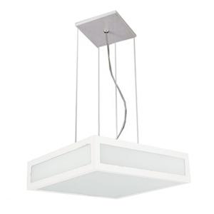 Pendente 3021 Pantoja&Carmona Quadrado Alumínio/Vidro 4 Lamp Bivolt