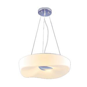 Pendente LLUM Cloud Redondo Aço/PVC Branco 4 Lamp Bivolt