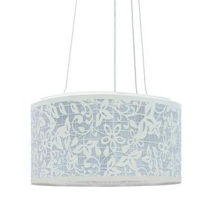 Pendente Taschibra Florience Redondo Aço/PVC Branco 6 Lamp Bivolt