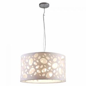 Pendente LLUM Rotterdam Redondo Aço/PVC/Tecido Branco 3 Lamp Bivolt