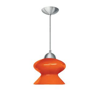Pendente Caisma Iluminação Marselha Redondo Alumínio/Vidro Laranja 1 Lamp Bivolt