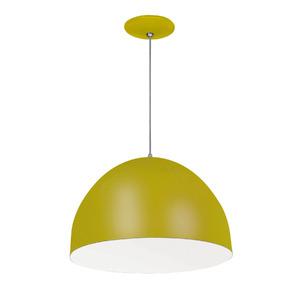 Pendente Spot Line 393/1 Redondo Alumínio Amarelo 1 Lamp Bivolt